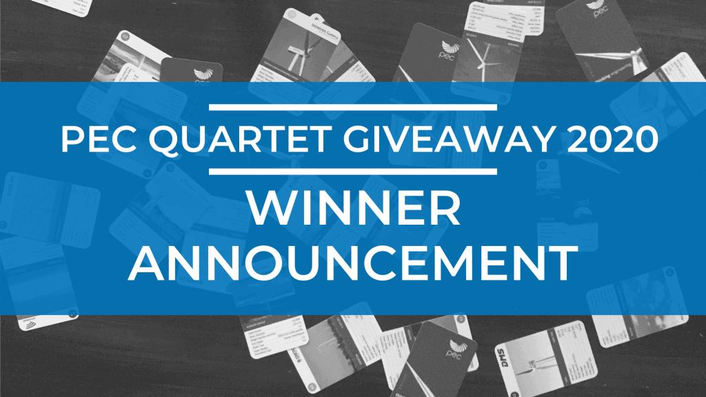 PEC Quartet Giveaway 2020: Winner Announcement 1